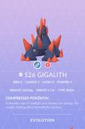 Gigalith Pokedex