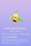 Weepinbell Pokedex