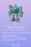 Golurk Pokedex