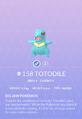 Totodile Pokedex