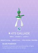 Gallade Pokedex