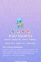Squirtle Pokedex
