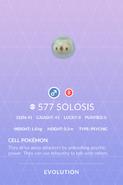 Solosis Pokedex