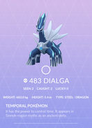 Dialga Pokedex