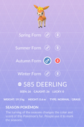 Deerling Pokedex