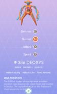Deoxys Pokedex