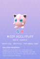 Jigglypuff Pokedex
