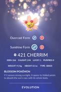 Cherrim Sunshine Pokedex
