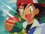 Ash łapie Pokémona