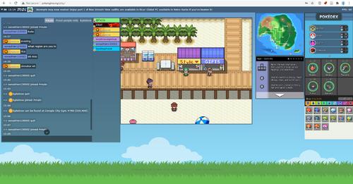 Screenshot of Pokengine game window.