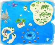 Screenshot of the Summer Island treasure map.