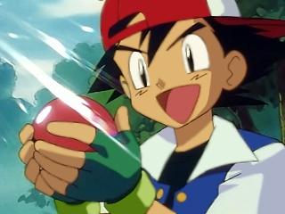 Ash Pega um Pokémon