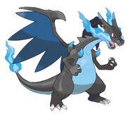 Pokemon-Mega Charizard X Official Art 300dpi