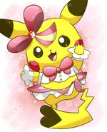 Pop star pikachu by aquabluu-d7qwzc7