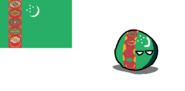 Turkmenistanball (Countryball and Flag.)