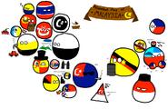 Polandball map of malaysia