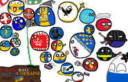 Polandball map of Ukraine