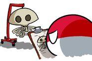 Польша и скелет