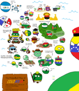 Polandball Map of Colombia by SebasV96