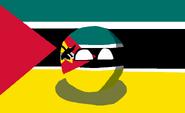 Mozambique (Flag and Countryball)