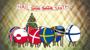 Estonia can into Nordic - Christmas wallpaper