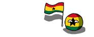 GhanaBall (CountryBall Waving it's Flag)