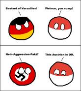 Germanyball Polandball Naziball