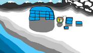 Nunavut builds an igloo