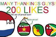200 likes suriname