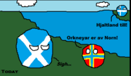 A (Very) Brief History of Orkney (Panel 5 in Norn)