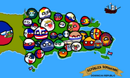 Polandball map of the Dominican Republic