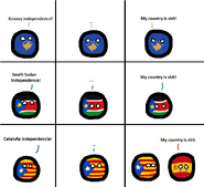 Kosovo&SouthSudan&Catalonia