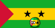 São Tomé and PríncipeBall (Countryball and Flag)