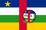 Central African RepublicBall Countryball and it's flag