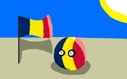 Chadball with flag