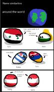 Name simlarities around the world