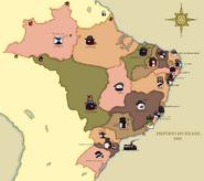 Mapa Império Brasileiro