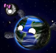 Earth and luna