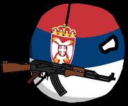 Serbia with an AK-47