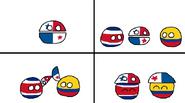Costa Rica - Colômbia - Panamá Boné