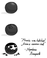 Prussia was hatched from cannonball