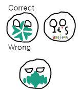 Correct and Wrong drawings of Daejeonball