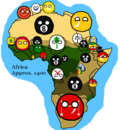 Africa map 1400s