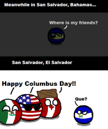 Confussion of San Salvador City in Columbus Day