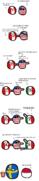 Canadá - Ontario - EUA - Florida - México - BCs - Yucatán - Polonia - Suecia