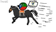Bosnian Empire Riding a Horse