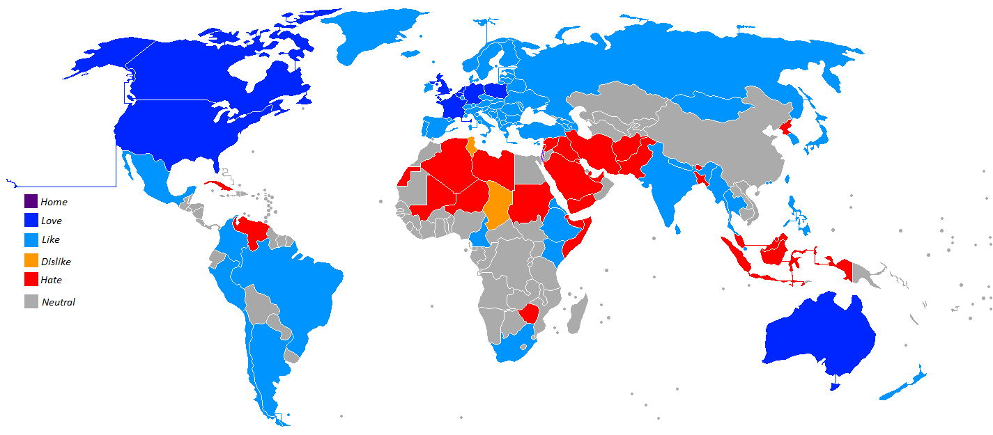 Ashkenazicube/Lol, here is my opinion map about world countries