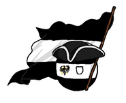 Prussiaball with flag