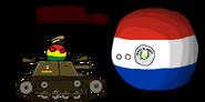 Boliviaball in tank Chaco War