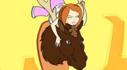 Beth on a moose